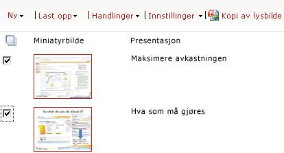 Eksempel på lysbildebibliotek
