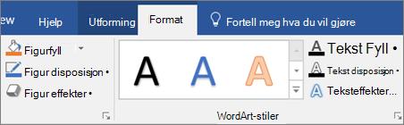 Klikk Format-fanen