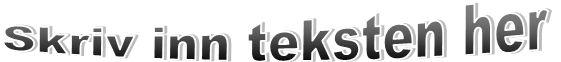 WordArt som viser tekstbrytingseffekten i Publisher 2010