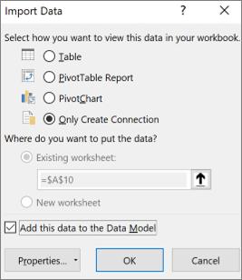 Bare lag tilkobling for import av data