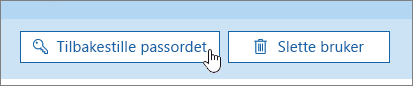 Tilbakestill passord-knappen.