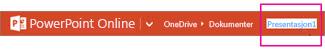 Gi nytt navn til filen på den oransje øverste linjen