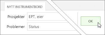 OK-knappen i kategorien ny instrumentbord