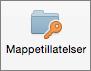 Mappetillatelser-knappen i Outlook 2016 for Mac