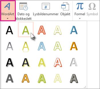 WordArt-stiler