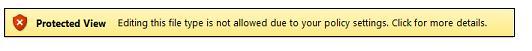 Beskyttet visning fra filblokkering, som brukeren ikke kan redigere