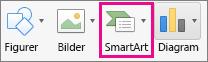 SmartArt i OrgChart