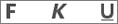 Ikoner for fet skrift, understreking og kursiv