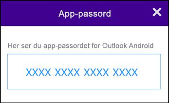 Noter ditt app-passord