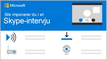 Begrepsmessig bilde av toppen av en informasjonsgrafikk for Skype-intervju