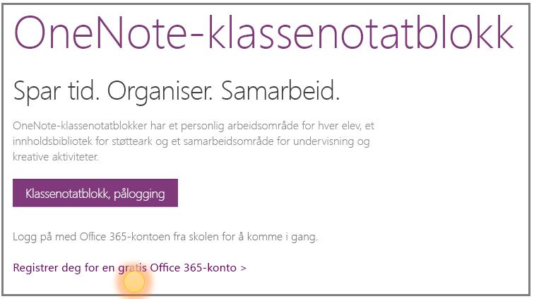 Skjermbilde av hvordan du får en gratis Office 365-konto.