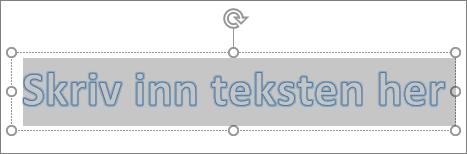 WordArt plassholdertekst