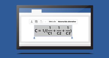 Formel i et dokument