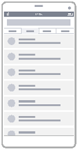 Trådrammediagram for liste