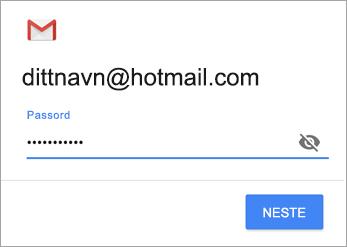 Skriv inn passord