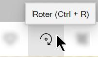 Roter-knappen på verktøy linjen i bilder-appen.