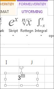 Skrive inn i boksen for hevet tekstformatering