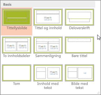Lysbildeoppsett i PowerPoint