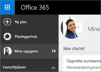 Planlegging-hub og Mine oppgaver