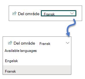Rulle gardin liste for språk