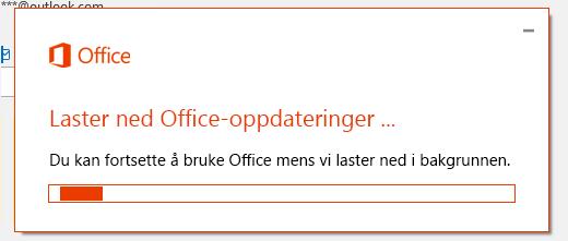 Dialog boksen nedlasting av Office-oppdateringer