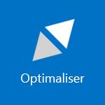 Skjermbilde av en rute som viser ordet Optimaliser