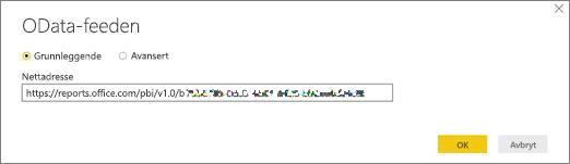 Netttadresse til OData-feed for Power BI Desktop