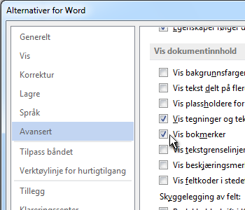 Alternativer for Word