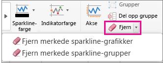 Velg Fjern på fanen Sparkline-utforming