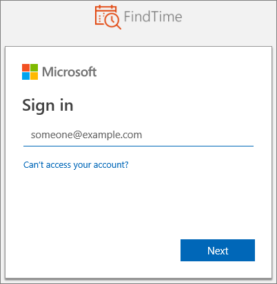 Microsoft-pålogging
