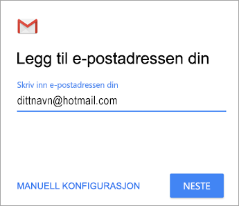 Legg til e-postadressen din
