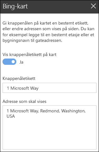 Bing-kart webdel verktøykassen