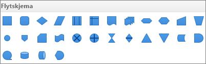 Flytskjema i PowerPoint for Mac