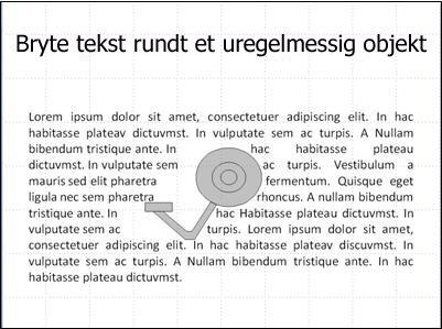 Lysbilde med bilde uten dekkende tekst