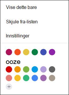 Velg Innstillinger fra Google-kalenderen.