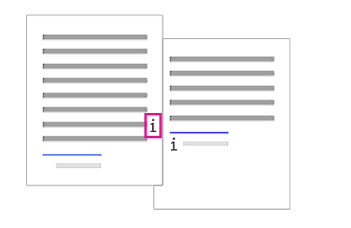 Fjerne en sluttnote fra brødteksten i et dokument