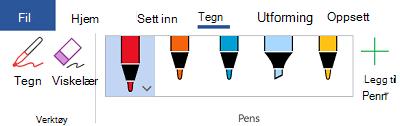Hånd skrifts verktøy i Office 365