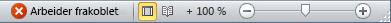 Statuslinjen i Outlook med status Arbeid frakoblet