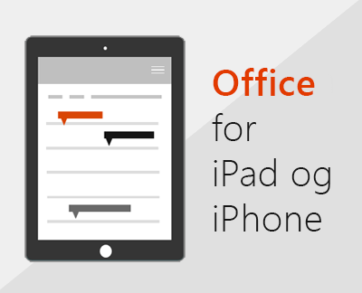 Klikk for å konfigurere Office-apper i iOS