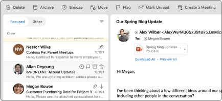 Utsett-knappen i Outlook for Mac.