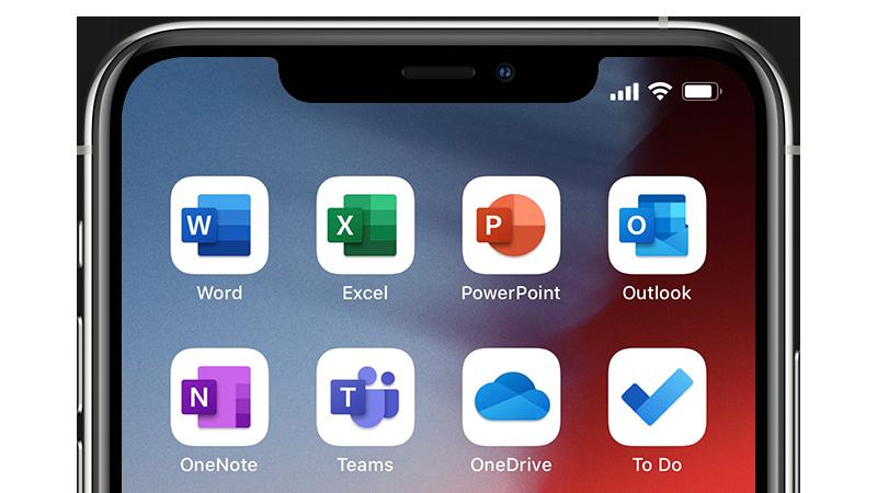 Bilde av ikonene for en mobilapp