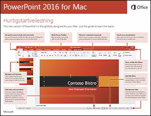 Hurtigstartveiledning for PowerPoint 2016 for Mac
