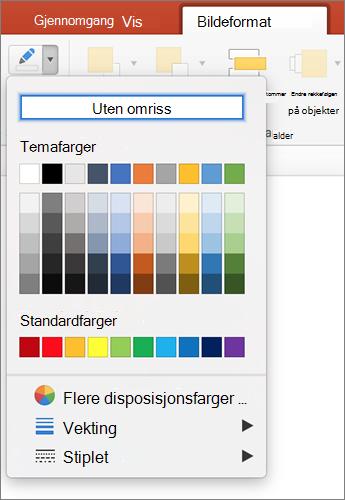 Klikk bilde disposisjon-ikonet