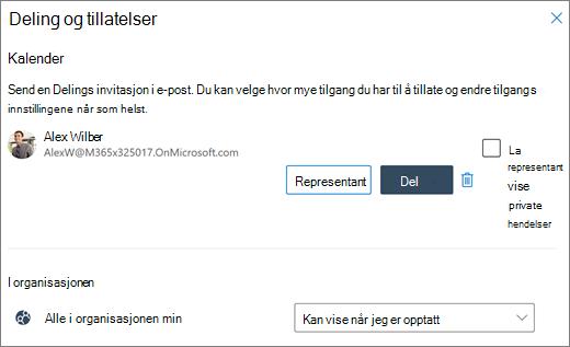 Delegere tilgang til kalenderen din i Outlook på nettet