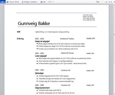 Office Online-skjermen