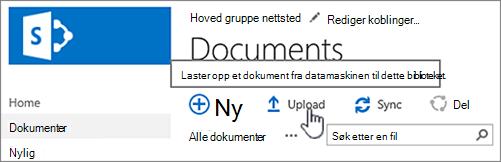 Last opp dokument
