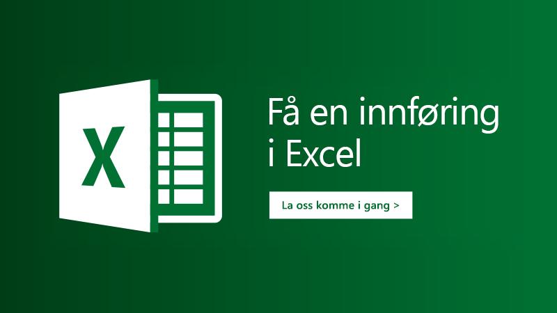 Malen «Bli med på omvisning» i Excel