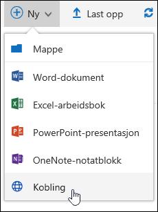 Legge til en kobling i et dokument bibliotek