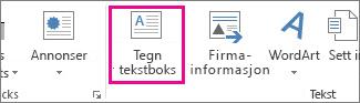 Tegn tekstboks