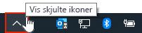 OneDrive-appen i systemstatusfeltet